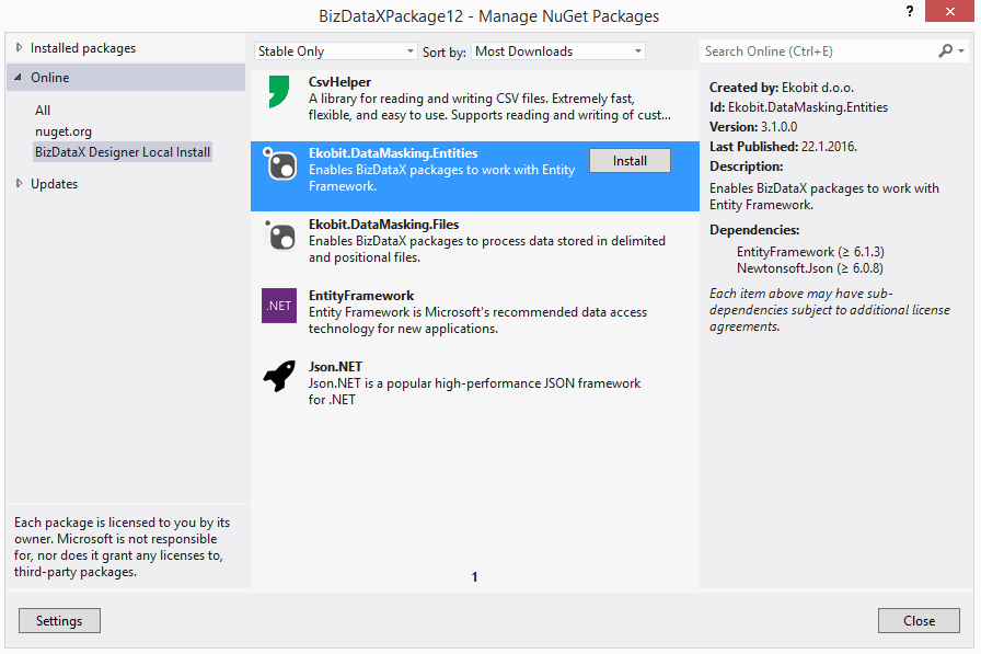 Adding NuGet Packages